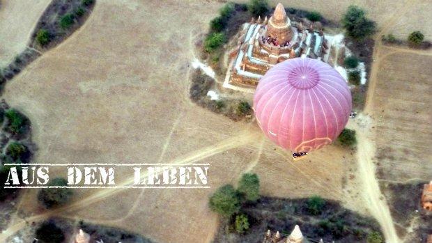 Myanmar Ballonfahrt: Mit dem Ballon über Bagan