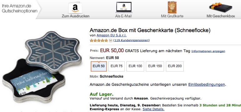 Amazon-Geschenkgutschein