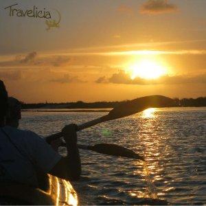 Backpacking Mexiko - Kanu fahren