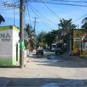 Backpacking Mexiko - Streets Isla Holbox