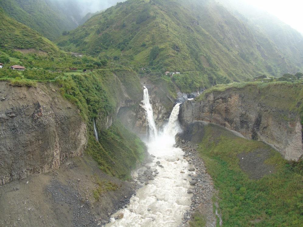 Wasserfälle in Baños, Ecuador
