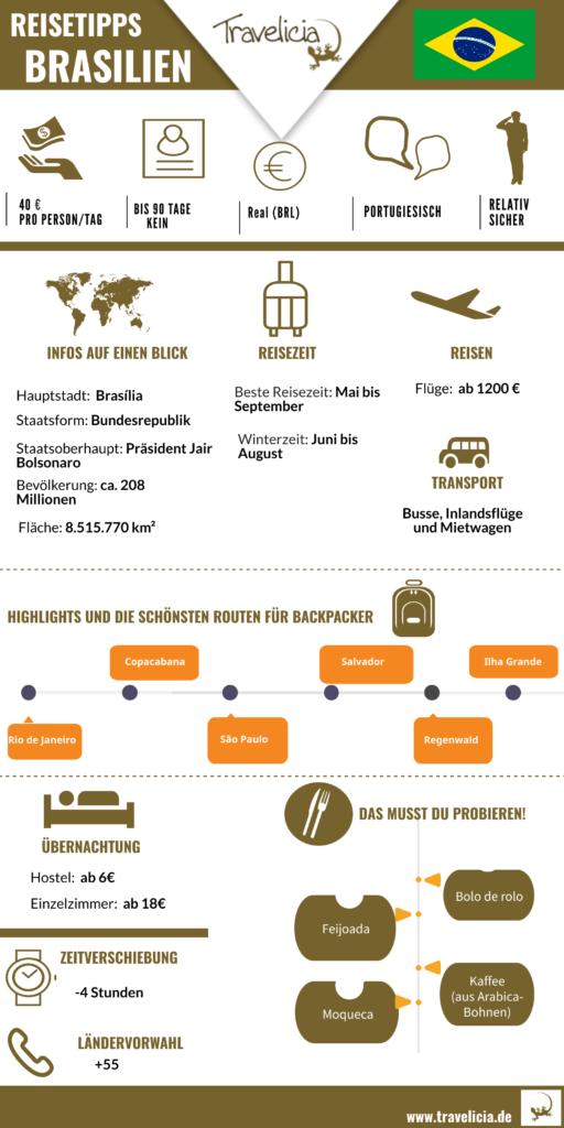 Die wichtigste Information Brazilien (Infografk)