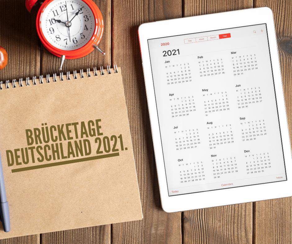 Die Brücketage Deutschland für 2021