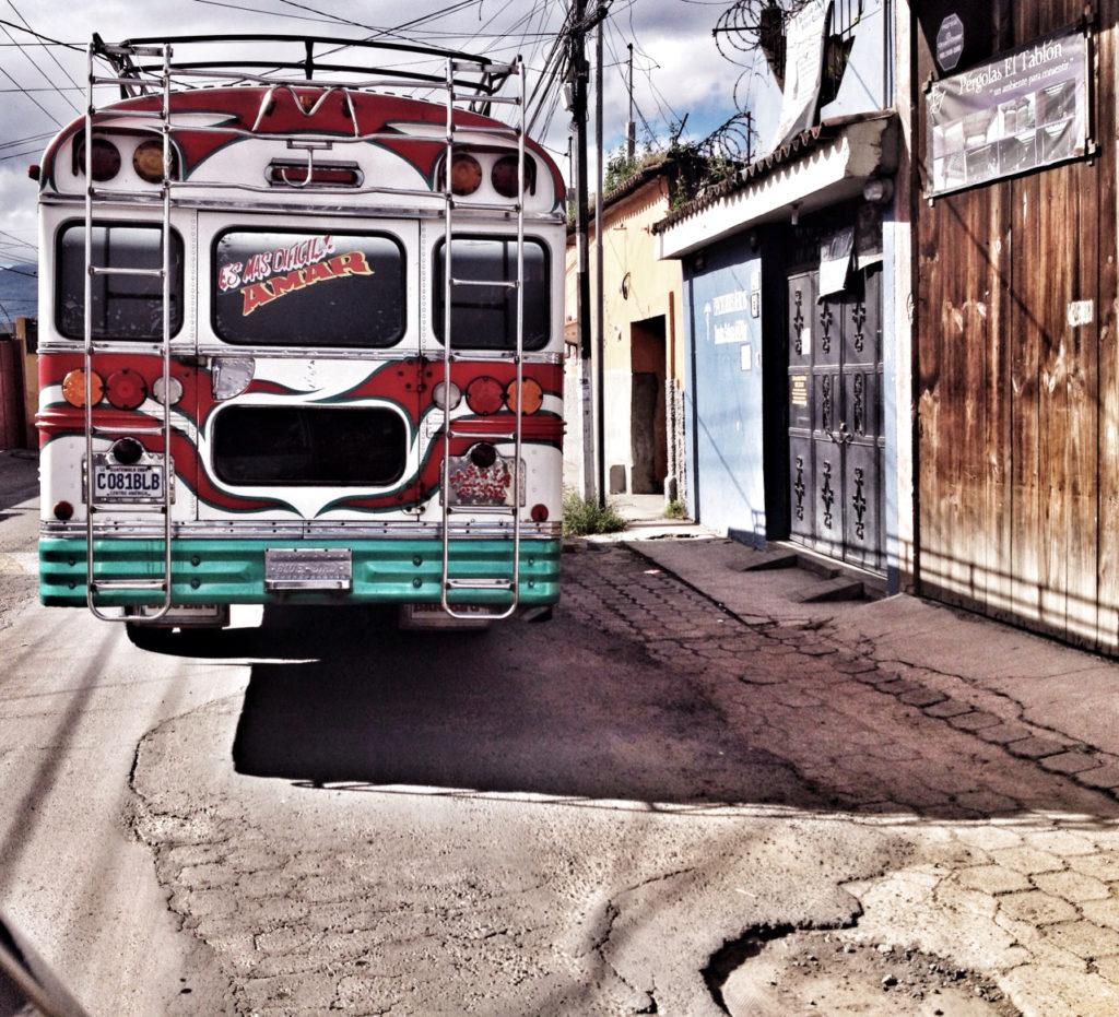 Transport in Guatemala -Chicken-Bus