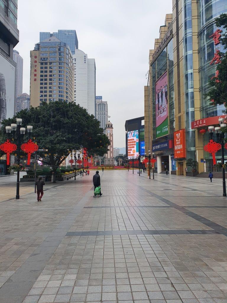Menschenleere Straßen in China