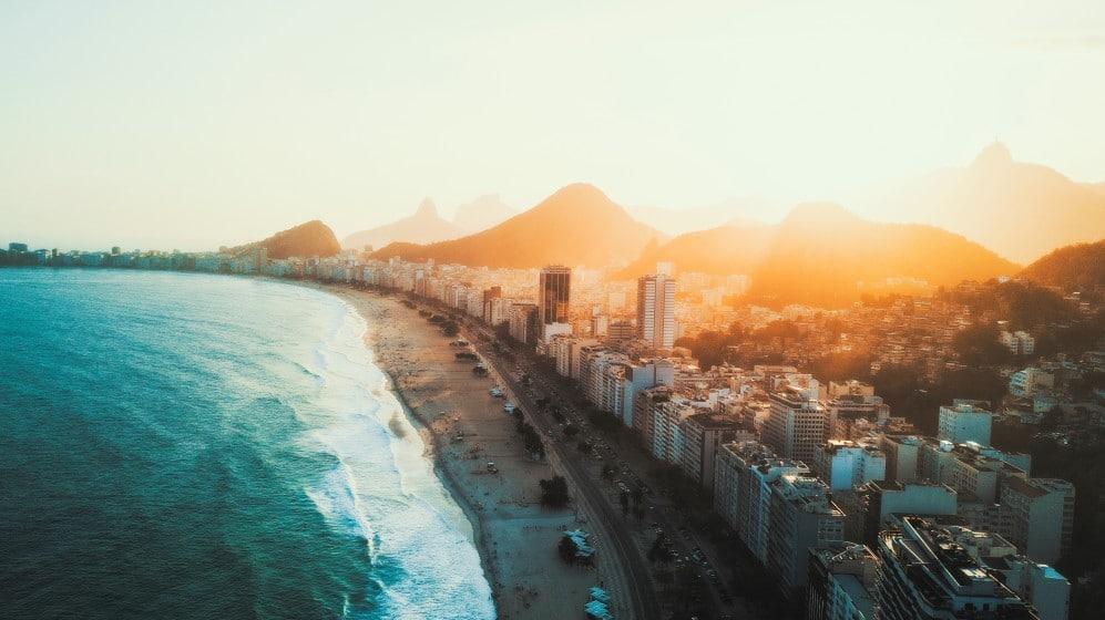 Backpacking in Copacabana,Brasilien