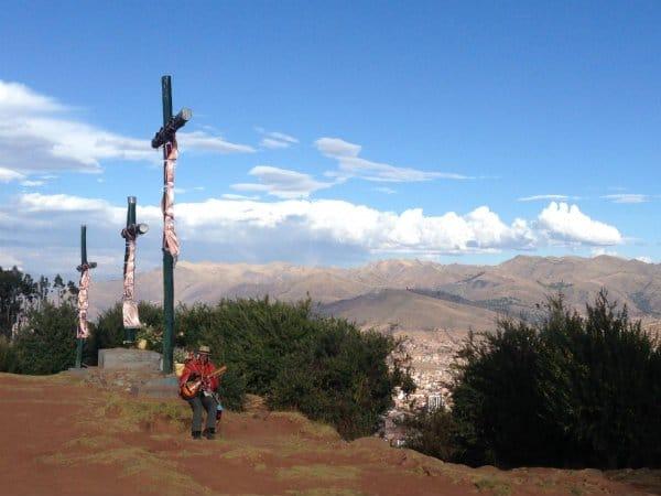 Cusco Einheimischer Panfloete klein