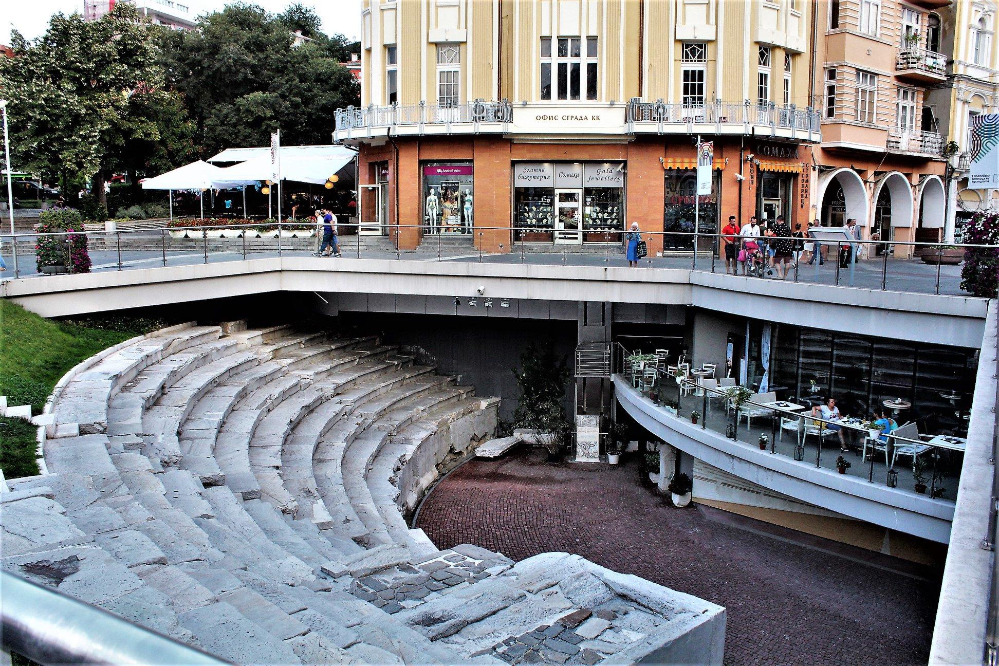 Das römische Stadion in Plovdiv