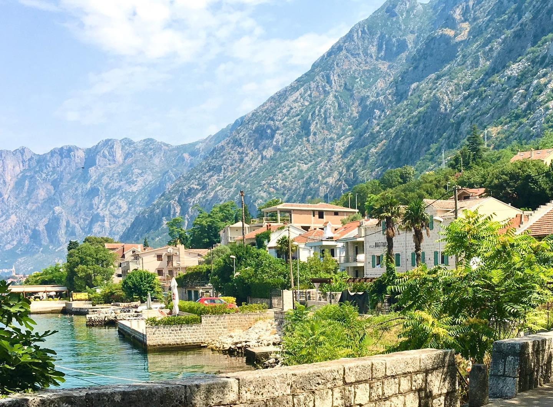 Dobrota in Kotor, Montenegro