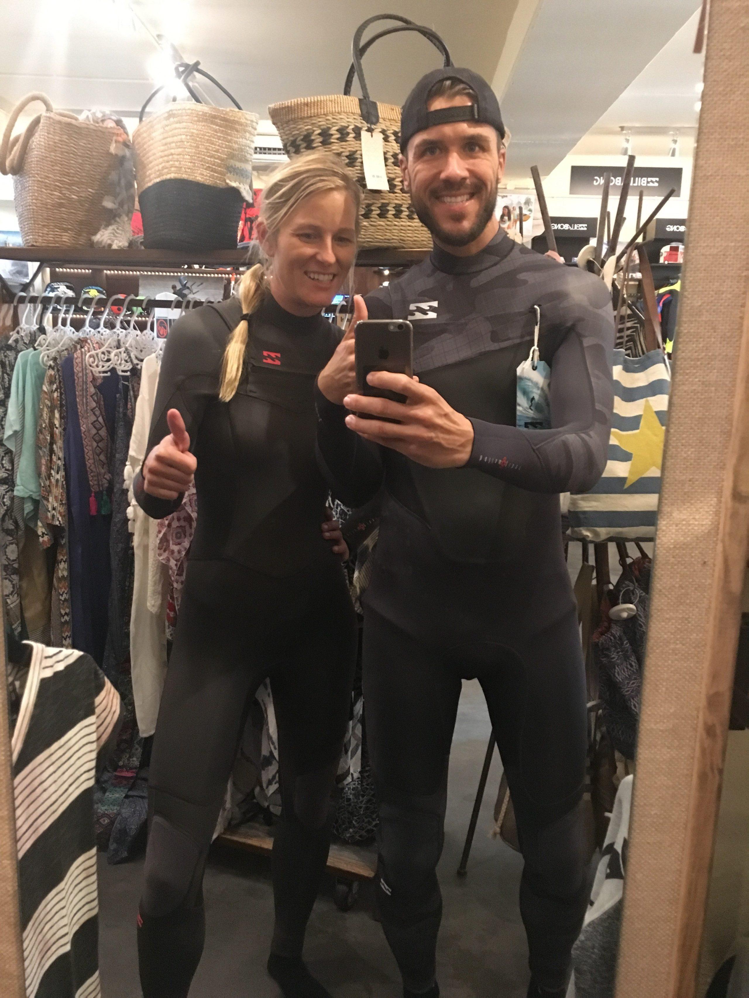 Feli und Marcus Selfie in Wetsuits