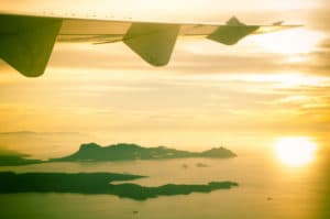 Flug nach Borneo