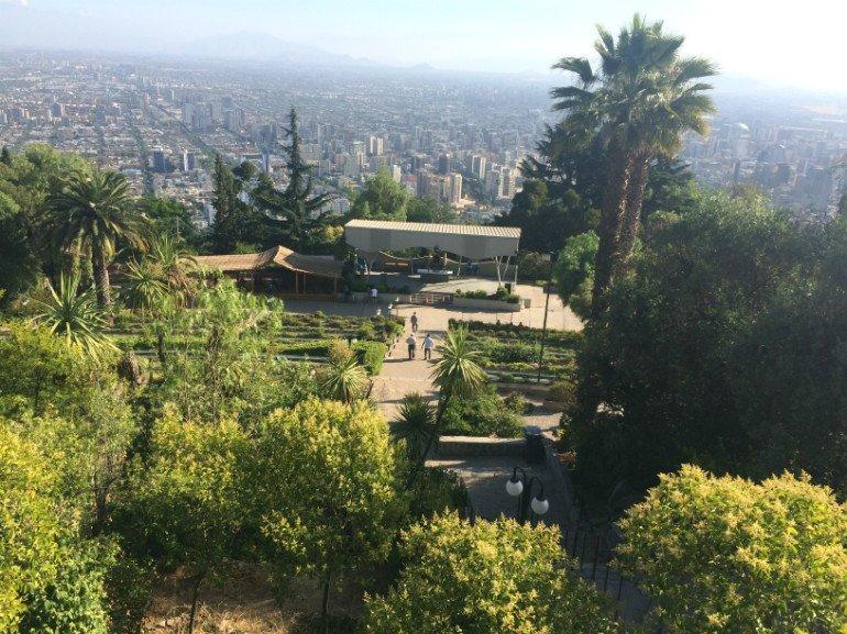 Freiluftkirche und Santiago vom Cerro San Cristóbal