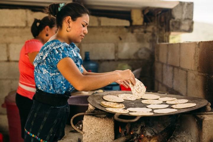 Typische Küche in Guatemala