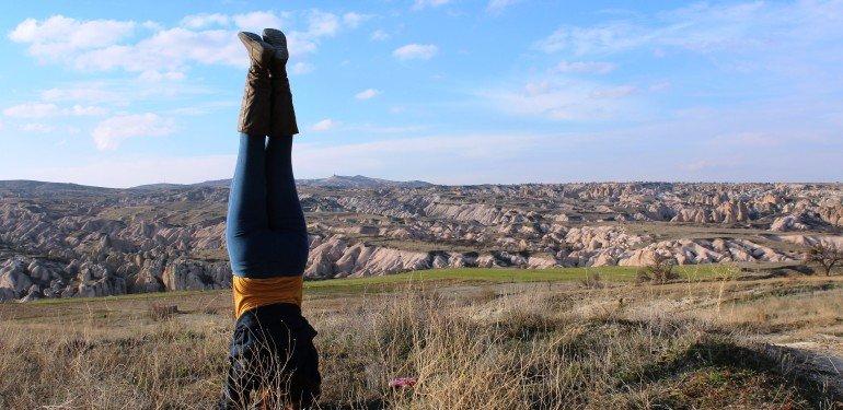 Yoga Handstand Kappadokya
