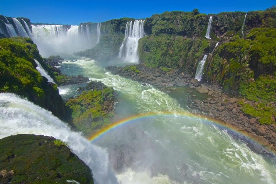 Backpacking in Argentina Iguazu Wasserfälle