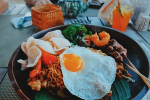 Typische Küche Indonesien