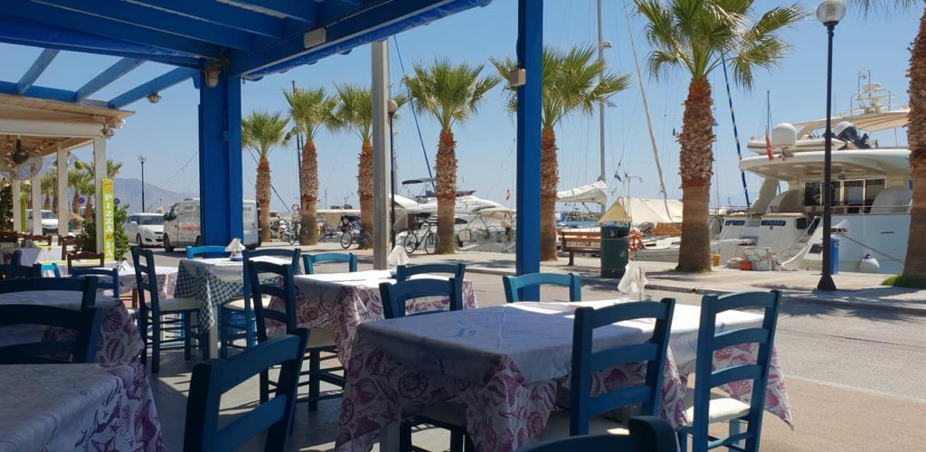 Backpackers in Kos, Griechenland