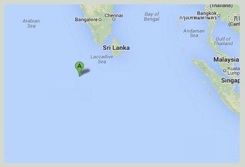 Karte-Backpacking-Malediven
