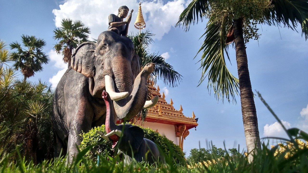 Tempel in Khon Kaen, Nordostthailand