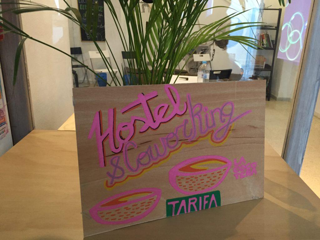 Schild im La Cocotera in Tarifa