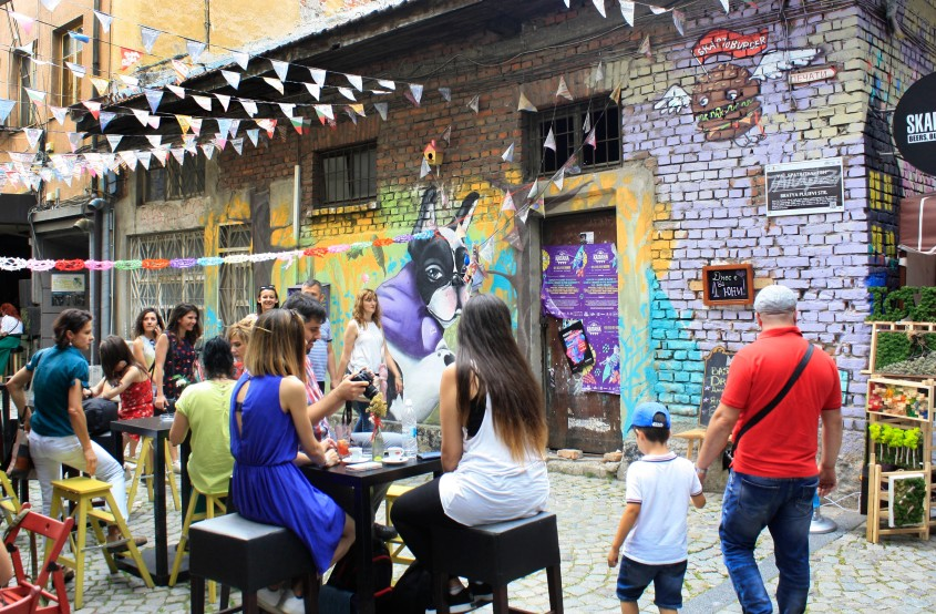 Menschen in Plovdiv, Bulgarien