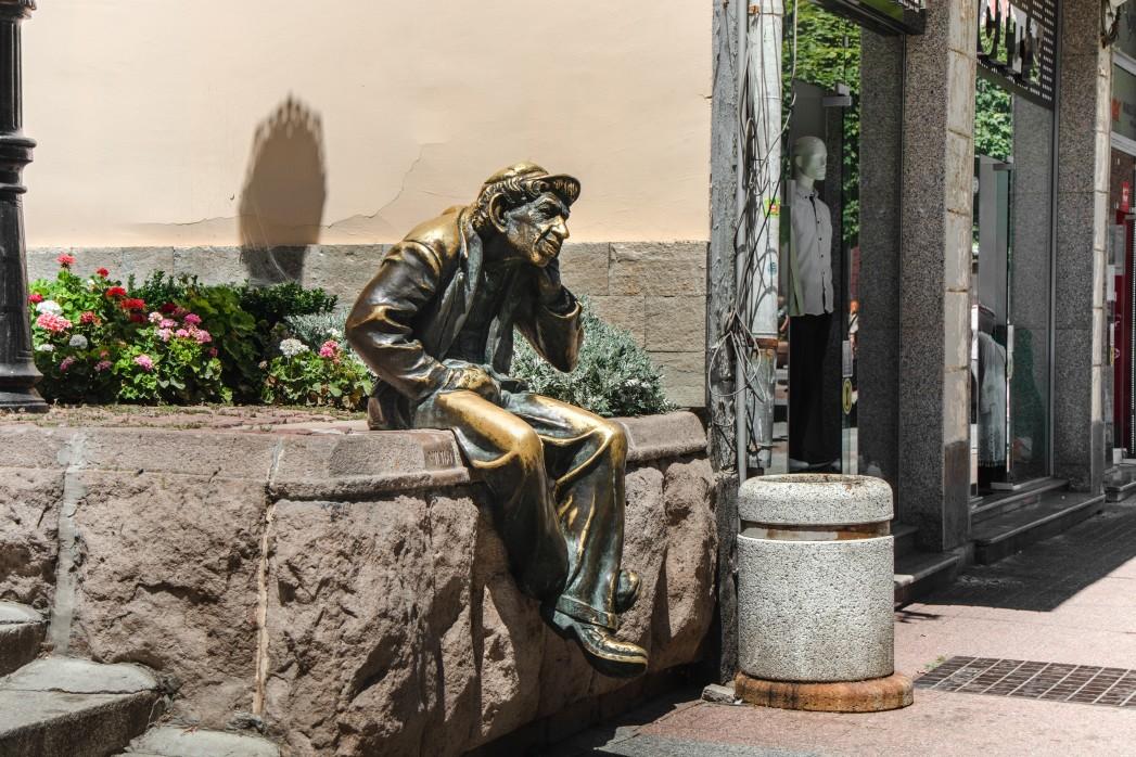 Milyo Statue in Plovdiv