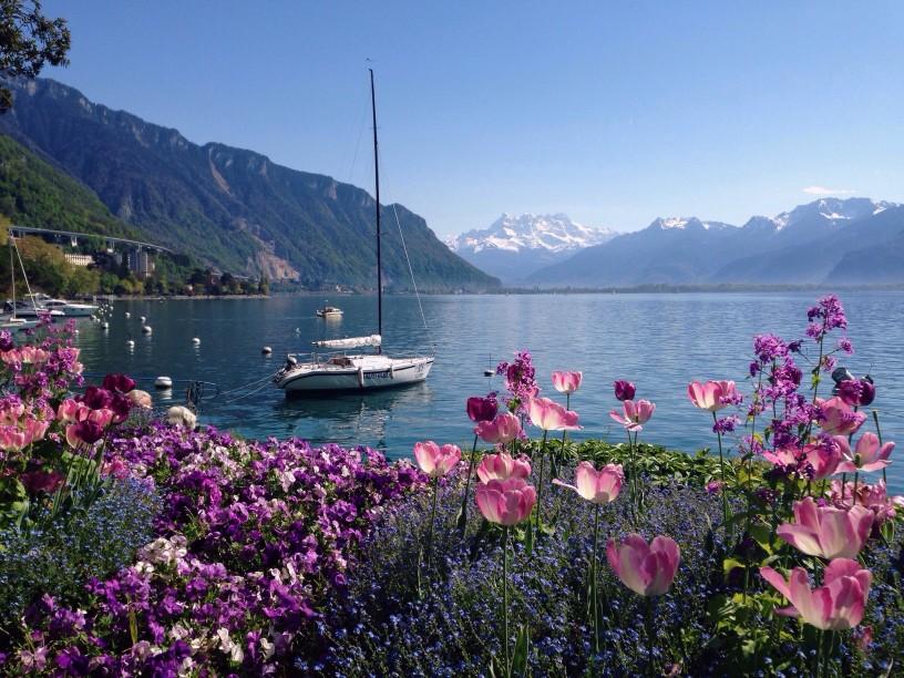 Genfer See und Montreux