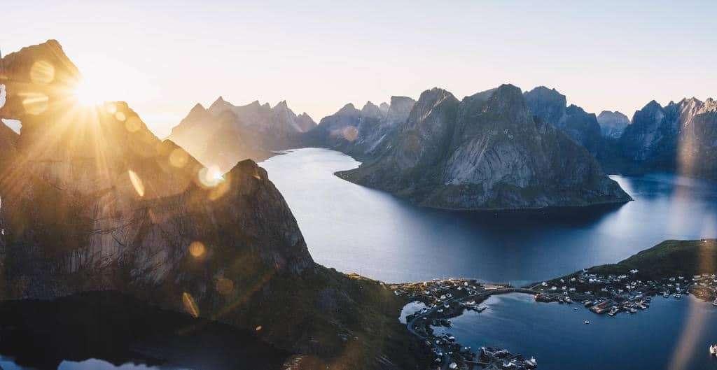 Mögliche Route für Bakpackers in Norwegen