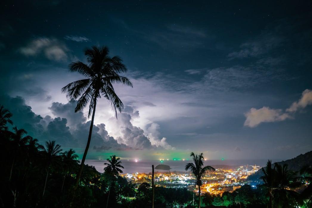 Regenzeit in den Regionen von Thailand