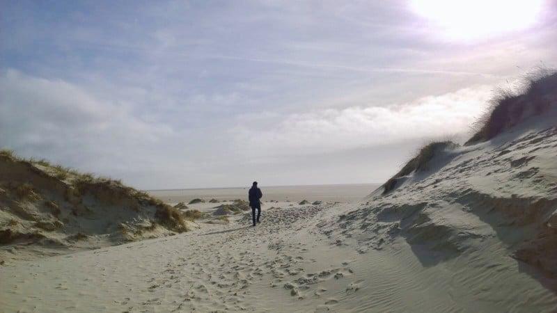 Sandbank Kniepsand bei Amrum