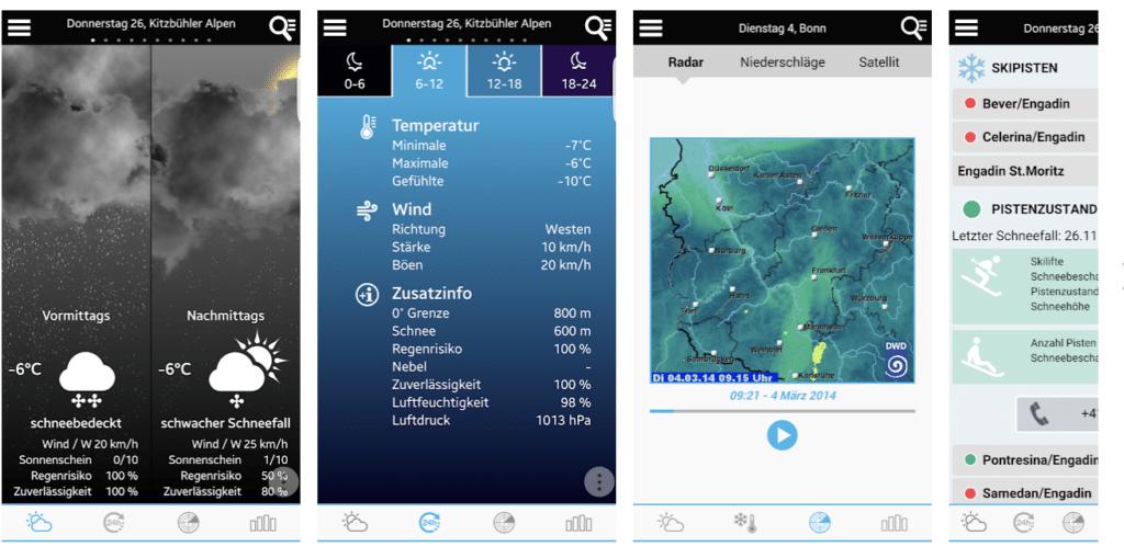Die App Wetter