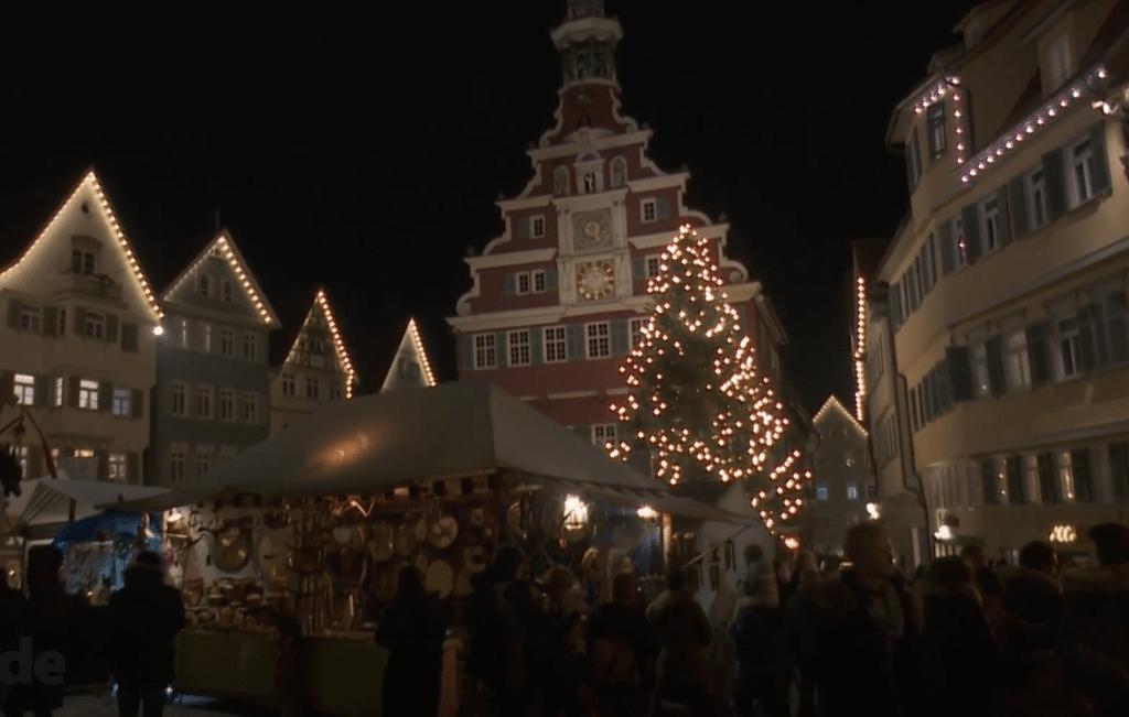Mittelaltermarkt und Weihnachtsmarkt in Esslingen, Deutschland