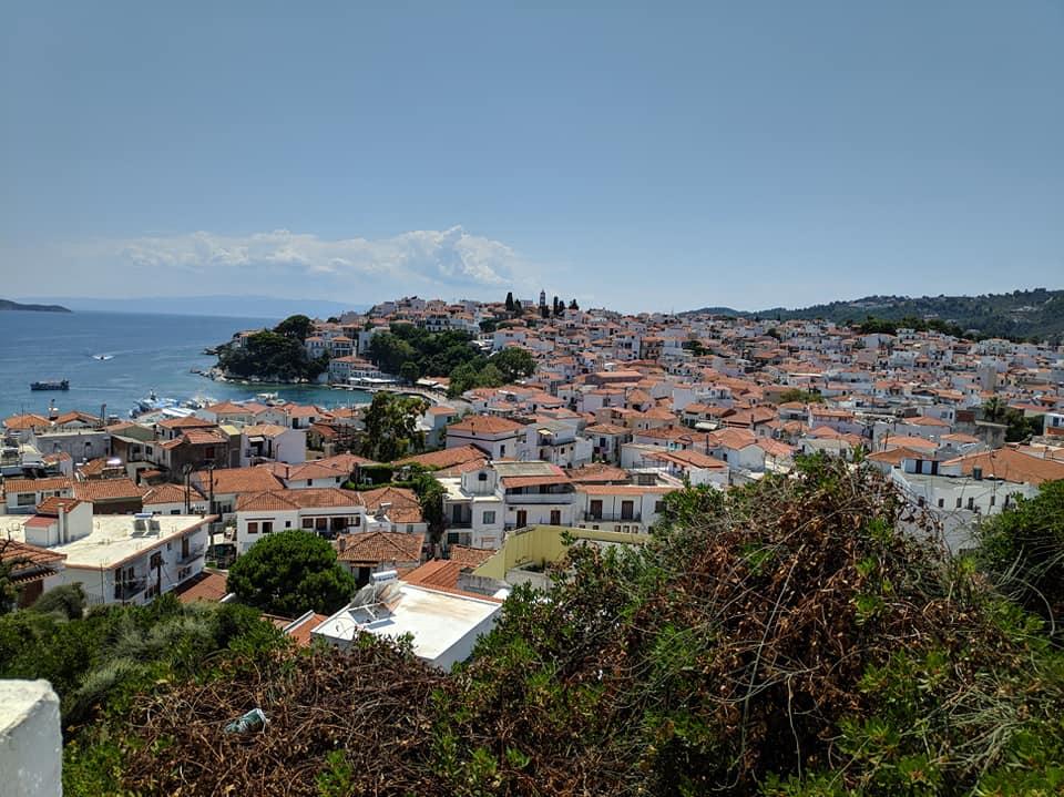 Der Stadt Skiathos, Griechenland