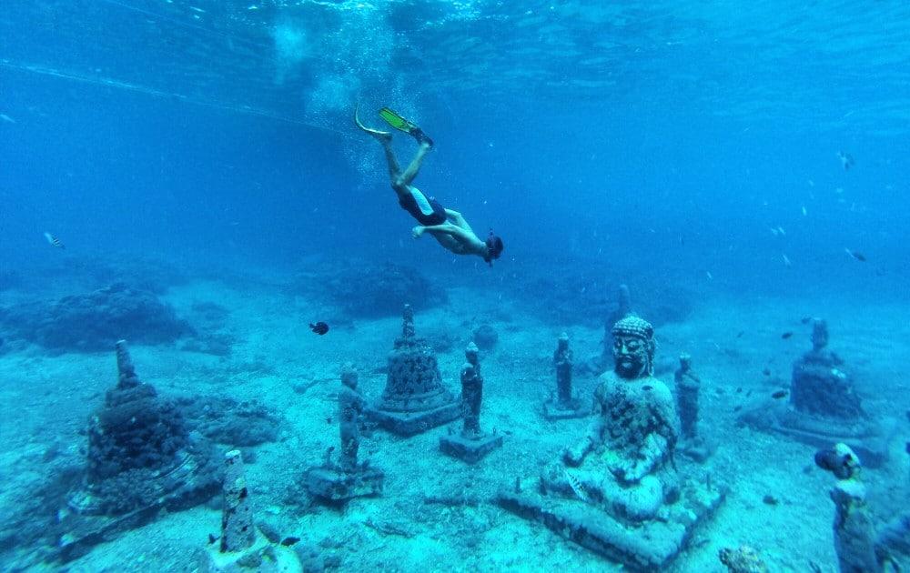 Snorkeling in Bali, Indonesien