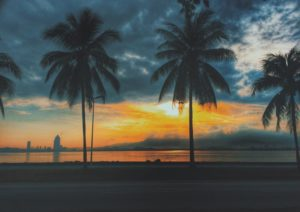 Sonnenuntergang in Kinabalu