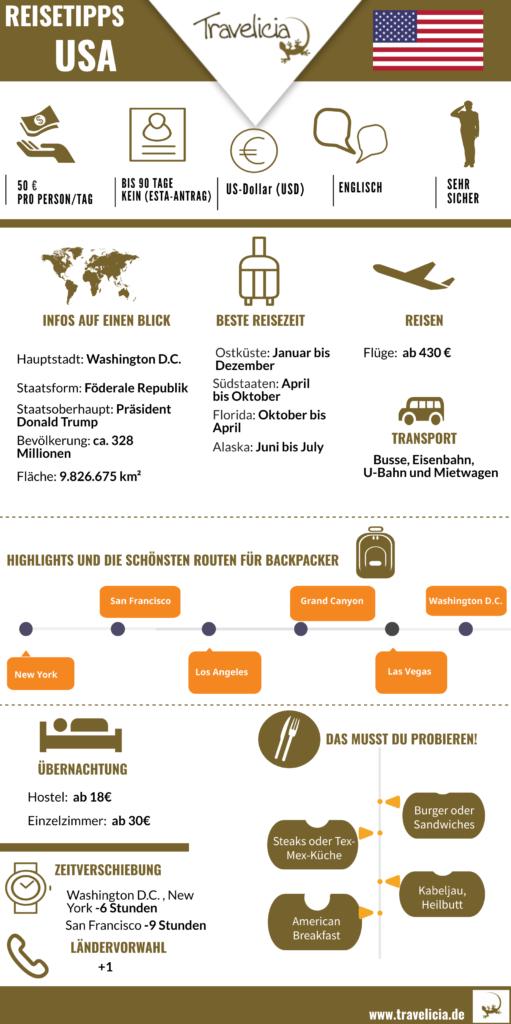 Amerika- die wichtigste Information (Infografik)