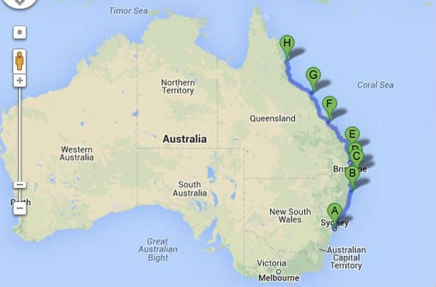 backpacking-route Australien