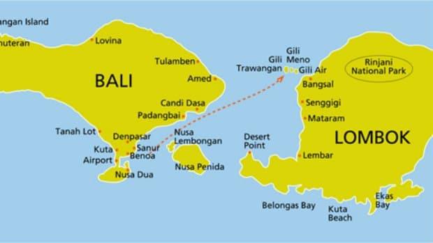Map Of Gili Air Island