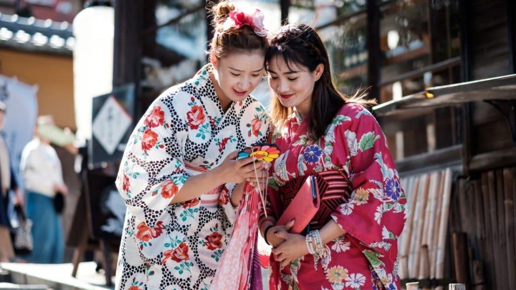 Mobilfunk und Internet Japan