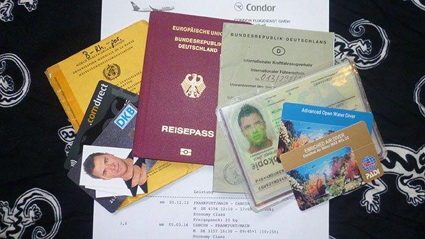 Reisedokumente online sichern