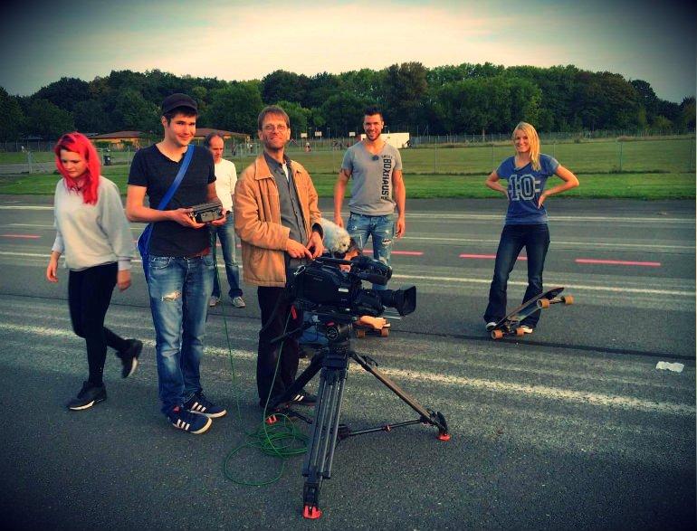 STERN TV Dreh auf dem Tempelhofer Feld