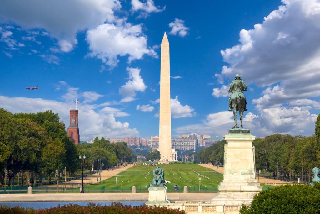 Washington DC, Amerika, Backpacking